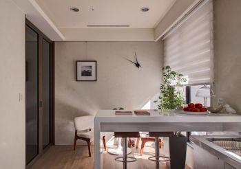 厨房白色吧台混搭风格装饰图片