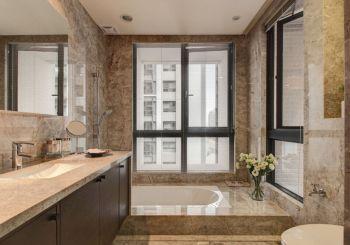 浴室白色浴缸混搭风格装饰设计图片