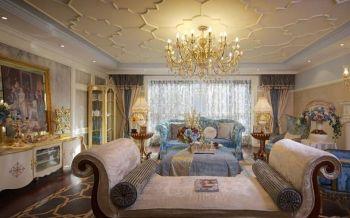 法式风格150平米4房1厅房子装饰效果图