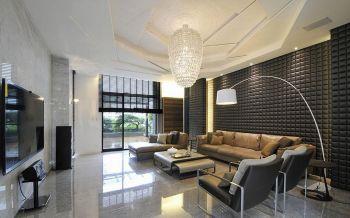 现代简约风格110平米别墅房子装饰效果图