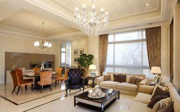 现代欧式风格134平米大户型房子装饰效果图