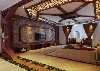 潍坊大观天下三居室家庭中式装修效果图