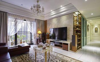 欧式风格120平四室一厅新房装修效果图