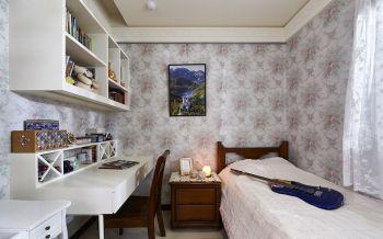 儿童房白色书桌欧式风格装修设计图片