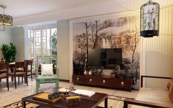 新中式风格80平米2房1厅房子装饰效果图