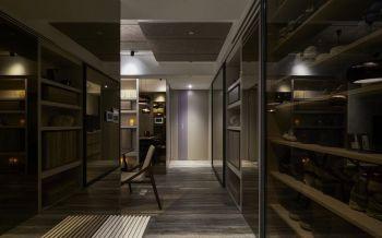 餐厅咖啡色走廊简约风格装饰效果图