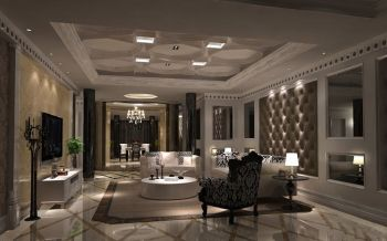 欧式风格180平米别墅房子装饰效果图