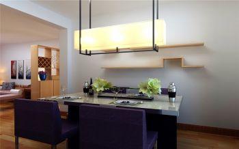 餐厅黄色灯具现代简约风格装饰设计图片