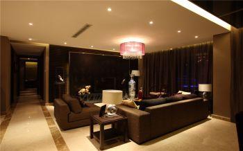 现代中式风格134平米3房2厅房子装饰效果图