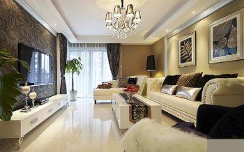 简欧风格110平米3房2厅房子装饰效果图
