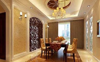 餐厅窗帘新古典风格装潢图片