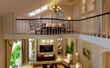 起居室阁楼新古典风格装修设计图片