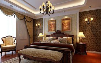 卧室黑色灯具新古典风格装修效果图