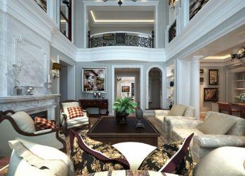 客厅灰色茶几法式风格装修图片
