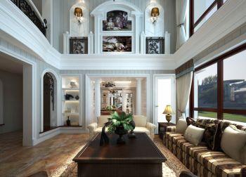 客厅地板砖法式风格装饰图片