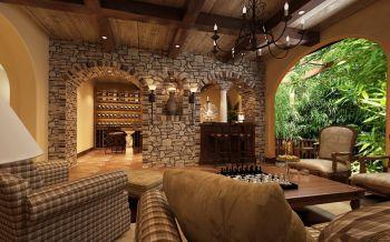 客厅吧台法式风格装潢图片
