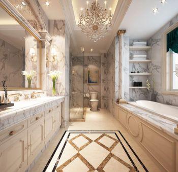 卫生间洗漱台法式风格装修设计图片