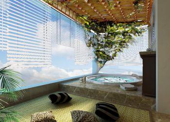 阳台浴缸法式风格装饰设计图片