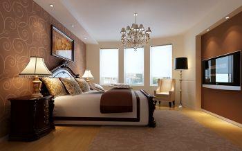卧室咖啡色背景墙现代欧式风格装饰效果图