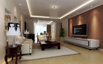 现代欧式风格100平米3房2厅房子装饰效果图