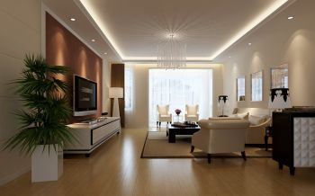 客厅灯具现代欧式风格装修图片