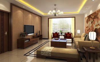现代中式风格150平米复式新房装修效果图