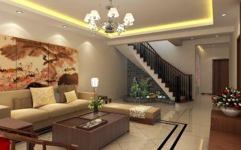 客厅楼梯现代中式风格装潢图片