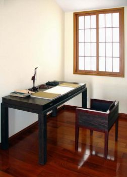 书房书桌混搭风格装饰设计图片