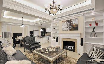 欧式风格120平米2房1厅房子装饰效果图