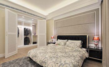卧室推拉门欧式风格装潢效果图
