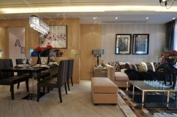 客厅隔断现代欧式风格装潢效果图