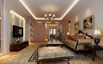 现欧式风格130平米3房1厅房子装饰效果图