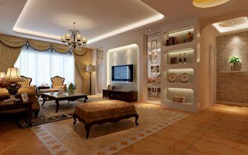 客厅地板砖欧式风格装修设计图片