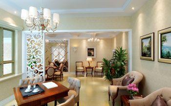 起居室灯具欧式风格装饰设计图片