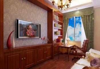 书房窗帘欧式风格装潢设计图片