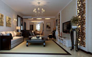 客厅灯具中式风格装潢设计图片