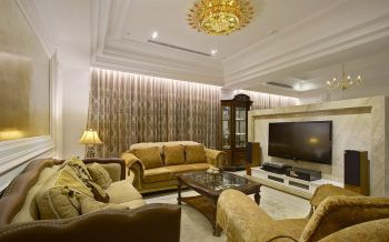 欧式风格120平米三房两厅新房装修效果图