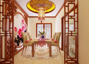 餐厅吊顶中式古典风格装修设计图片