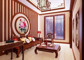 书房地板砖中式古典风格效果图