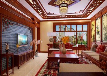 客厅吊顶中式古典风格装饰效果图