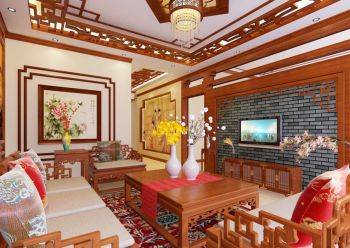 别墅中式古典装修效果图