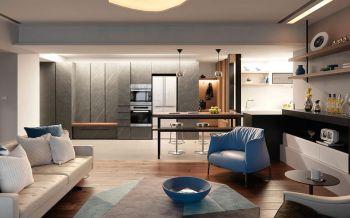 现代风格100平米两房两厅新房装修效果图