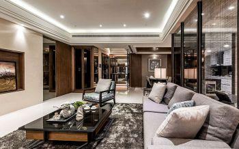 客厅白色地板砖混搭风格装饰效果图