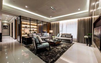 混搭风格134平米三房两厅新房装修效果图