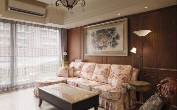 客厅沙发欧式田园风格装潢设计图片