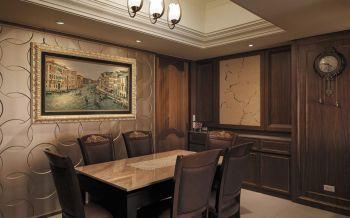 餐厅餐桌欧式田园风格效果图