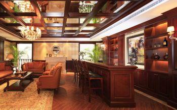 客厅咖啡色吧台欧式风格装修效果图