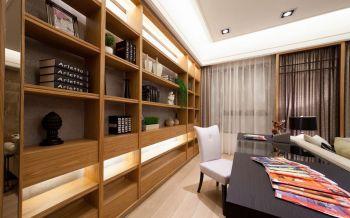 客厅黄色博古架现代风格装饰设计图片