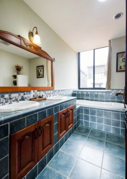 卫生间地板砖美式风格装修设计图片