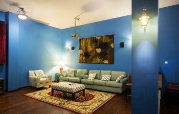 客厅阁楼美式风格装潢效果图